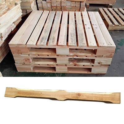 chamfered pallet deck board